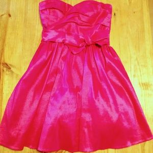 Bright Pink Calvin Klein Sweetheart Formal Dress